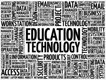 cloud technology: Education Technology word cloud concept Illustration
