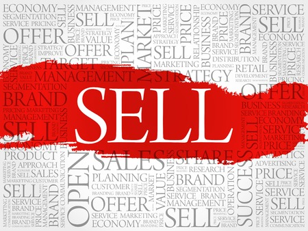 retailing: Sell word cloud, business concept background Illustration