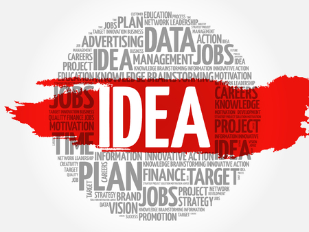 axiom: Idea word cloud, business concept Illustration