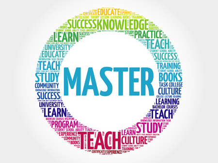 master: Master word cloud, education concept