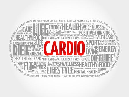 cardio: CARDIO word cloud, fitness, health concept