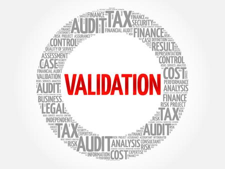VALIDATION word cloud, business concept Illustration