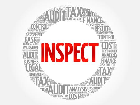 validez: INSPECT word cloud, business concept
