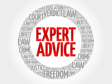 Expert advice word cloud concept Illustration