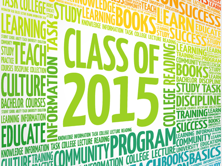 CLASS OF 2015 word cloud, education concept