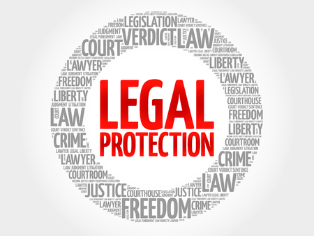 represent: Legal Protection word cloud concept