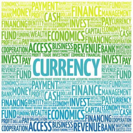 commodity: CURRENCY word cloud, business concept Illustration