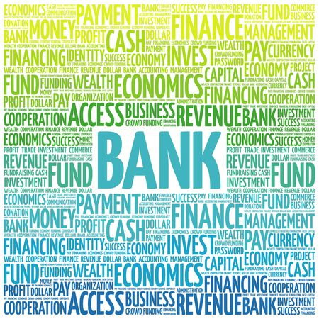 interst: BANK word cloud, business concept
