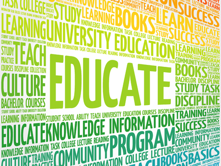 EDUCATE word cloud, education business concept Çizim