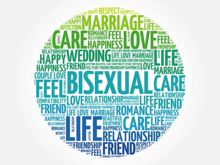 bisexuality: Bisexual circle word cloud collage concept Illustration