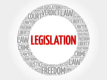 legislation: Legislation word cloud concept