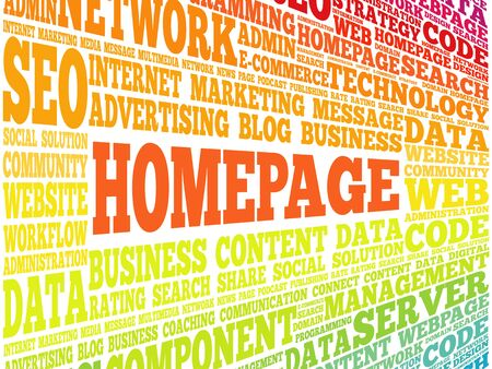 ajax: Homepage word cloud, business concept