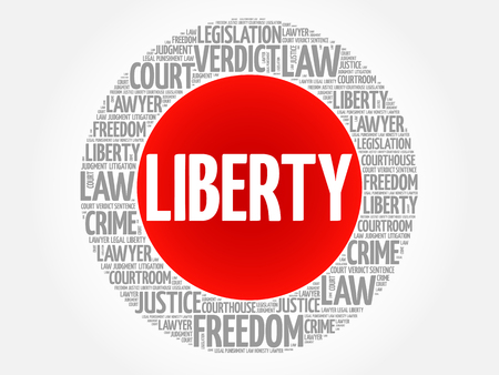 legitimate: Liberty word cloud concept