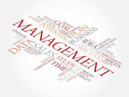 findings: Management word cloud, business concept Illustration