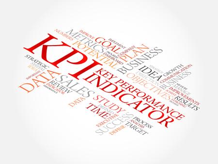 KPI - Key Performance Indicator word cloud, business concept Illustration