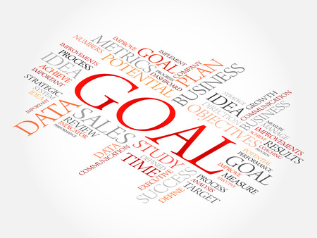 Goal word cloud, business concept Illustration