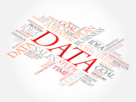 Data word cloud, business concept Illustration
