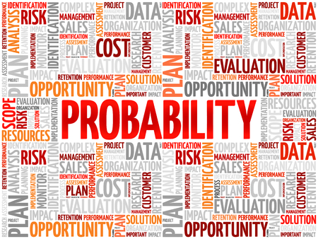 probability: Probability word cloud collage, business concept background Illustration