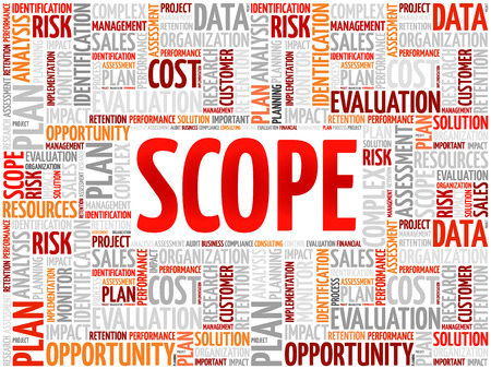 findings: SCOPE word cloud, business concept Illustration