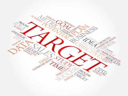 Target word cloud, business concept Illustration