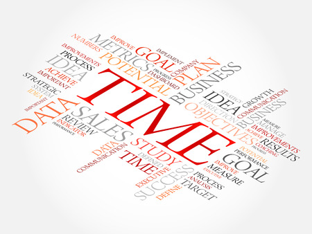 Time word cloud, business concept