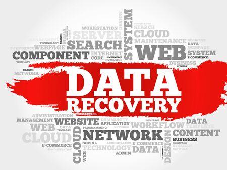 데이터 복구 단어 구름 개념