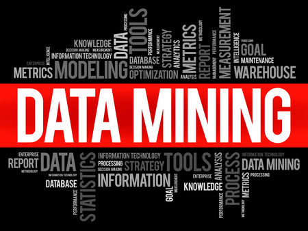 mine site: Data Mining Technology Strategy word cloud, business concept