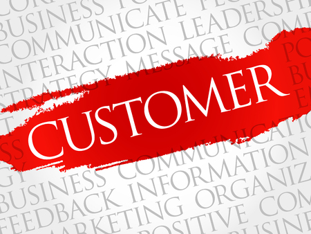 quickly: CUSTOMER word cloud, business concept Illustration