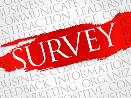 popularity: Survey word cloud, business concept