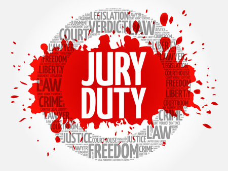 Jury Duty word cloud concept Illustration