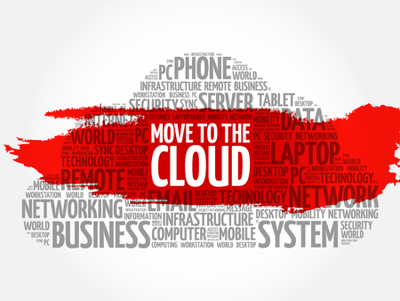 accessing: Move to the Cloud word cloud concept