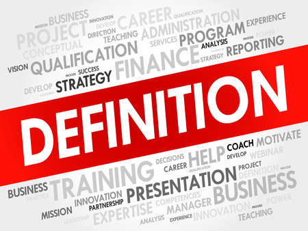 definicion: DEFINITION word cloud, business concept