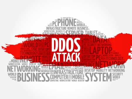 exploit: DDOS Attack word cloud concept