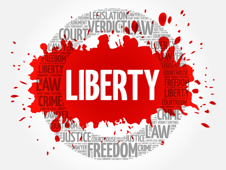 Liberty word cloud concept