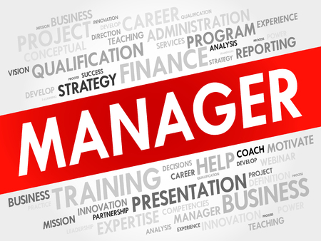 manager: Manager word cloud, business concept