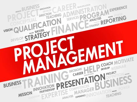 estimating: Project Management word cloud collage, business concept background