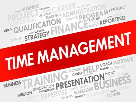 estimating: Time Management word cloud collage, business concept background