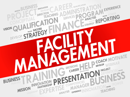 record office: Facility Management word cloud collage, business concept background