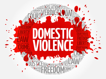 Domestic Violence word cloud concept Illustration