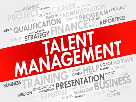 savant: Talent Management word cloud collage, business concept background Illustration