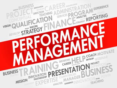 intervenes: Performance Management word cloud collage, business concept background Illustration
