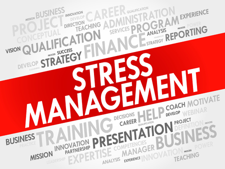 potentially: Stress Management word cloud collage, business concept background