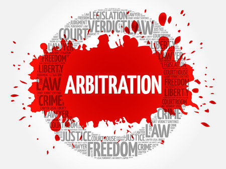 Arbitration word cloud concept Illustration