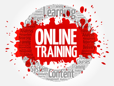 Online Training circle word cloud, business concept