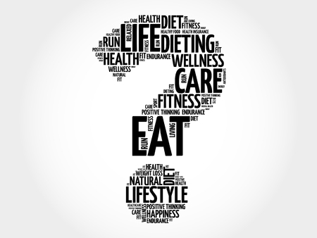 surgery costs: Question mark word cloud, fitness, sport, health concept Illustration