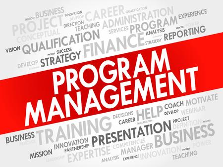 coordination: Program Management word cloud collage, business concept background Illustration