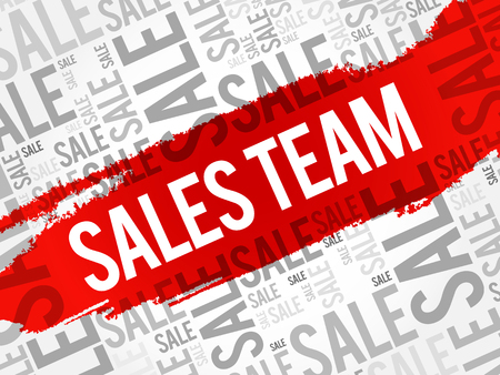 sales team: Sales Team words cloud, business concept background