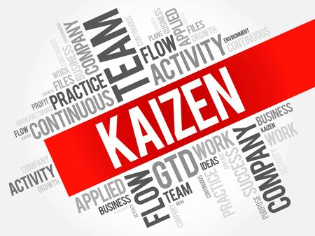 Kaizen word cloud collage, business concept background Illustration