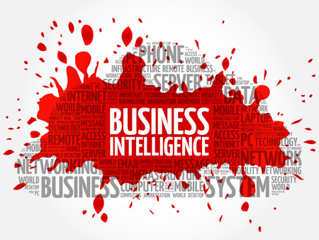 Business intelligence word cloud concept