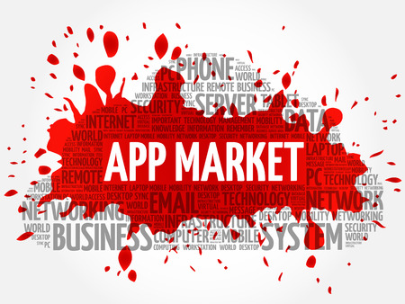 APP Market word cloud conceptb Illustration